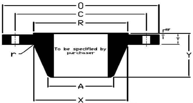 ASME B16 47 Class 300 Series B Welding Neck Flanges